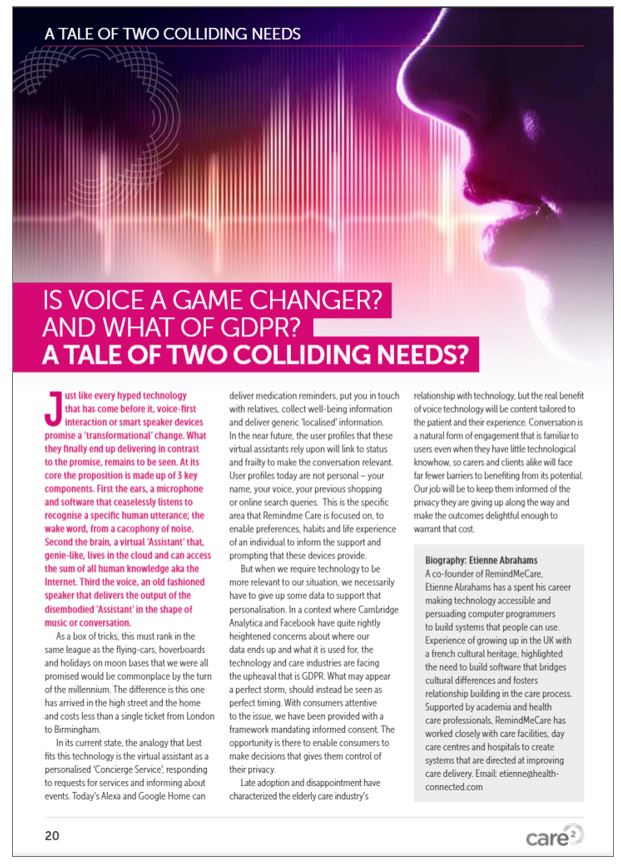 Care2 Is voice a gamechanger?