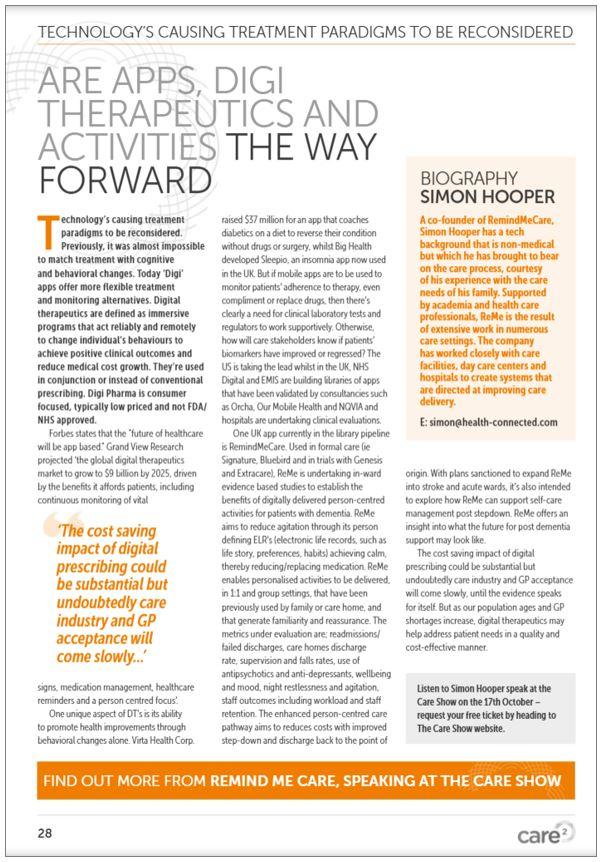 Digitherapeutics - a new care paradigm