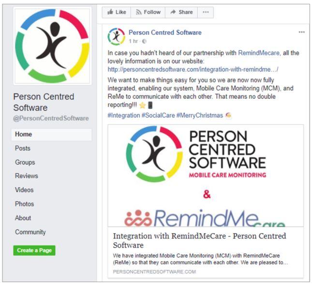 PCS Facebook promotion